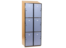 6 Door Locker Steel Frame