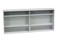 Glass Display Case with Shelves