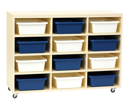 Tote Tray Unit with 12 Trays