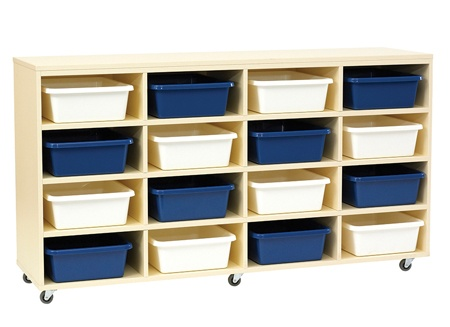 Tote Tray Unit with 16 Trays