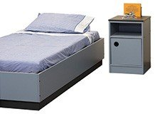 Dormitory Bed Base and Bedside Unit